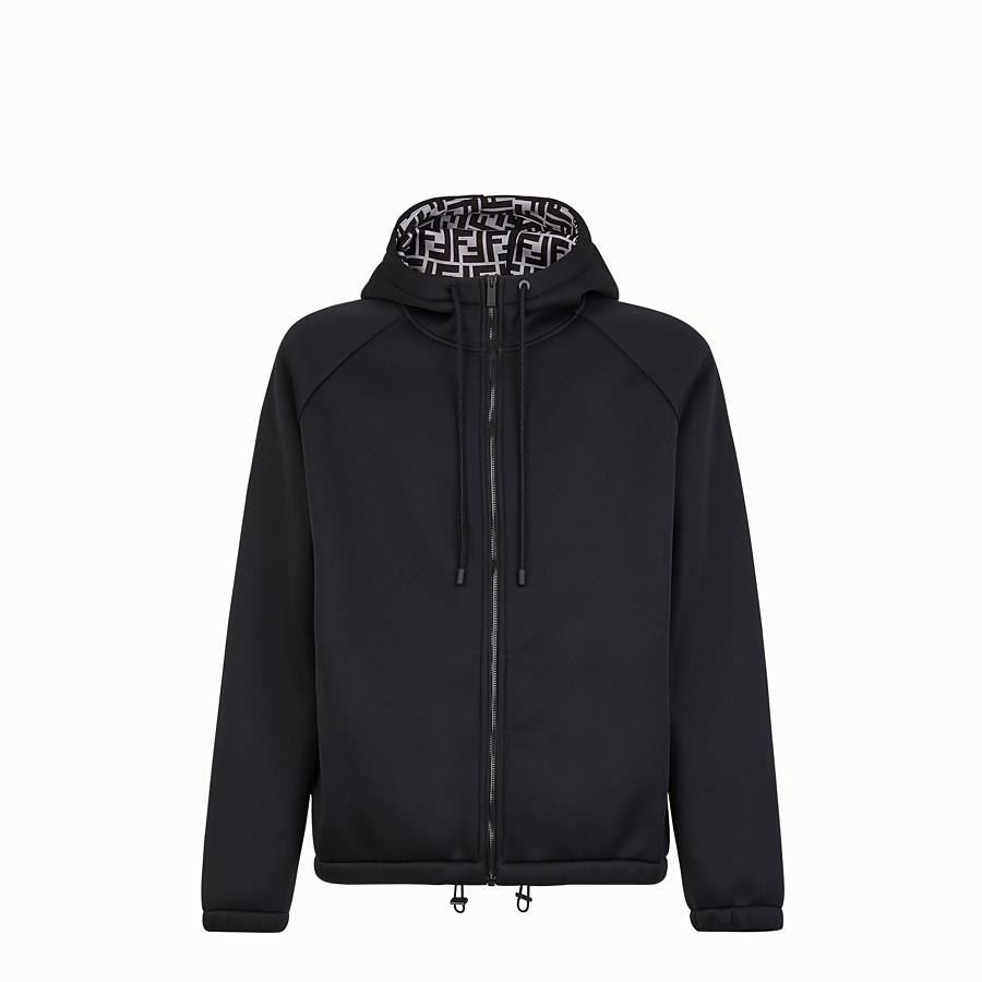 FENDI SWEATSHIRT - Black scuba sweatshirt - view 1 detail