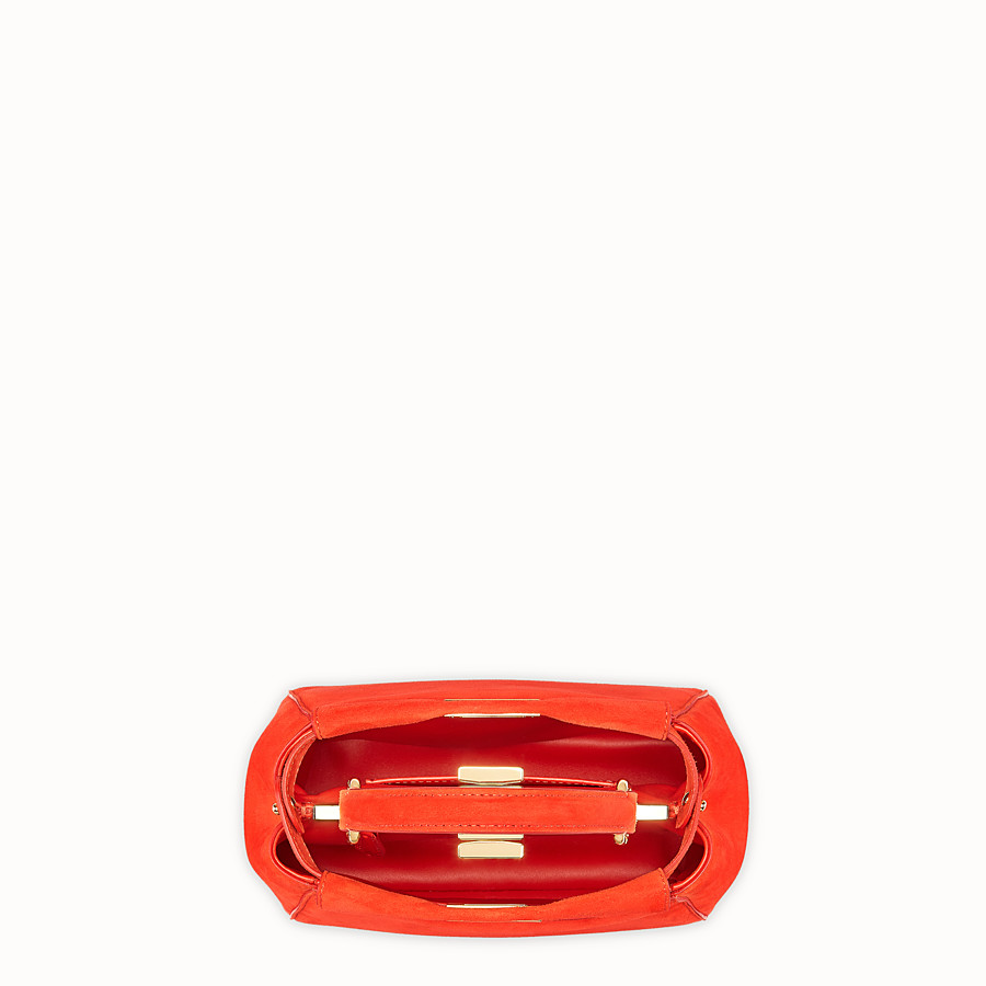 FENDI PEEKABOO XS - Red suede minibag - view 5 detail