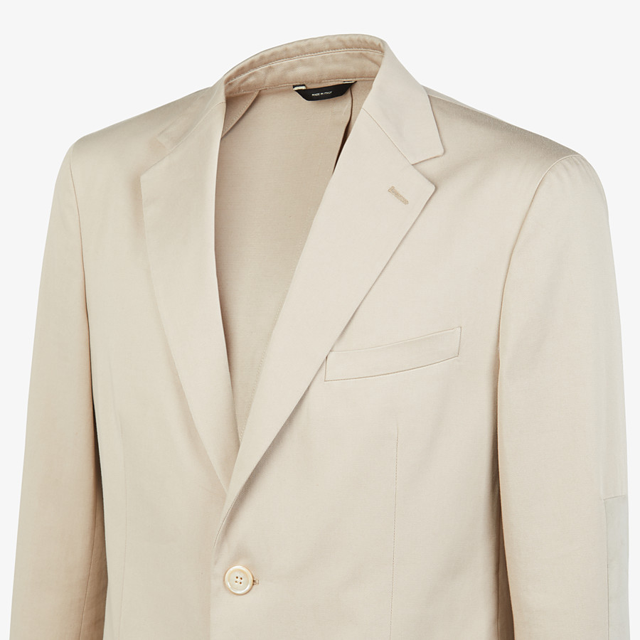 FENDI JACKET - White cotton blazer - view 4 detail