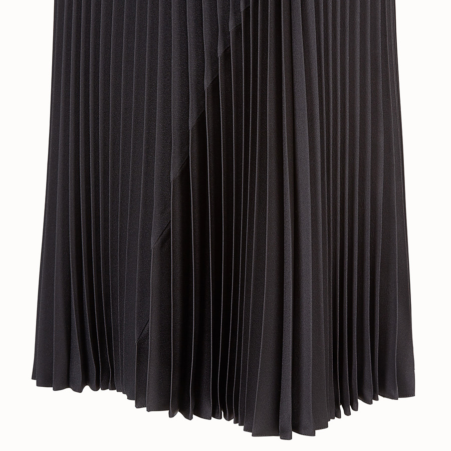 FENDI SKIRT - Black silk skirt - view 3 detail
