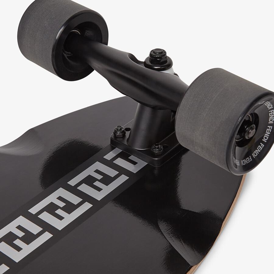 FENDI SKATEBOARD - Black wooden longboard - view 3 detail