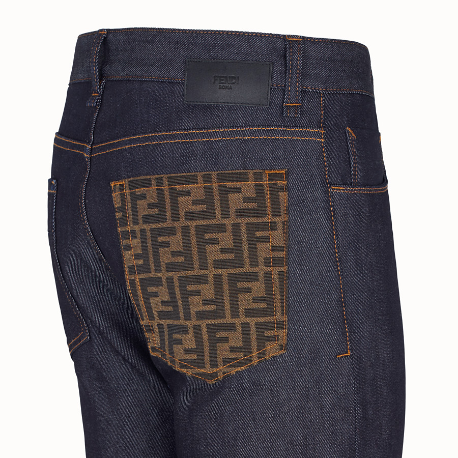 FENDI DENIM - Dark blue denim jeans - view 3 detail