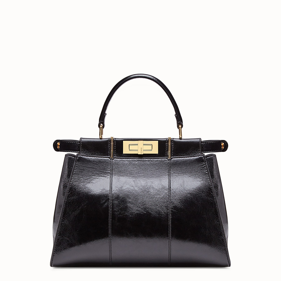 FENDI PEEKABOO ICONIC MEDIUM - Tasche aus Leder in Schwarz - view 5 detail