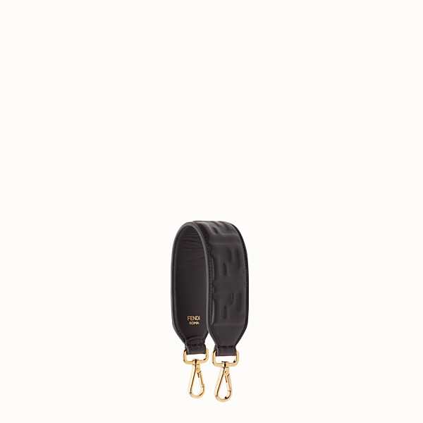 FENDI MINI STRAP YOU - Black leather shoulder strap - view 1 small thumbnail