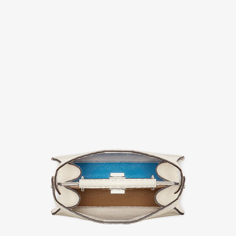 FENDI PEEKABOO I SEEU SMALL - White Selleria bag - view 4 detail