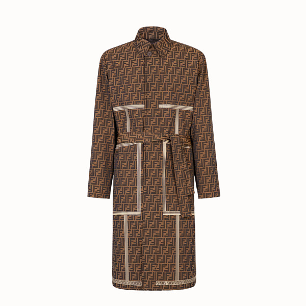FENDI TRENCH COAT - Brown fabric trench coat - view 1 small thumbnail