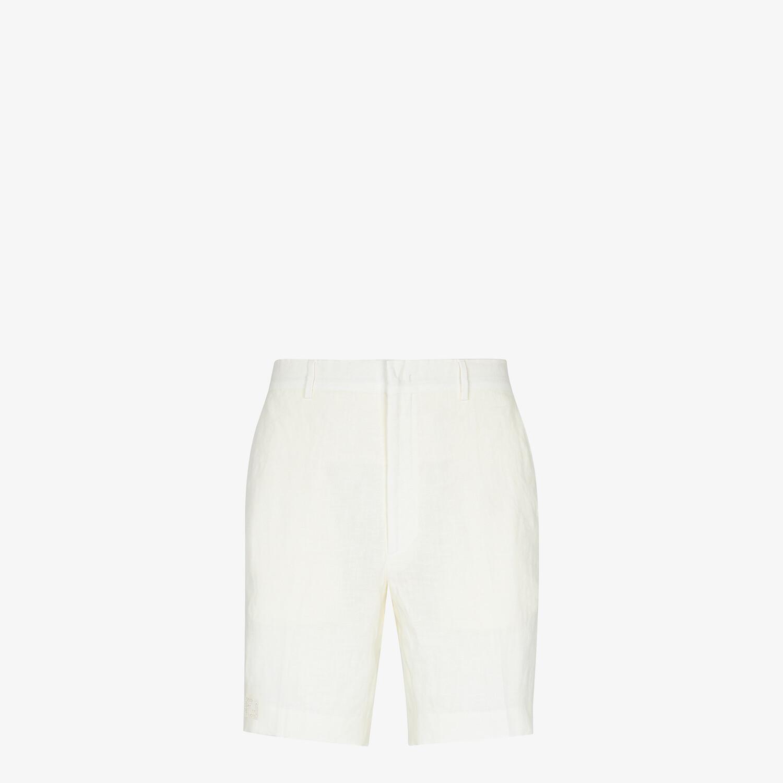 FENDI BERMUDAS - Natural hemp fabric pants - view 1 detail