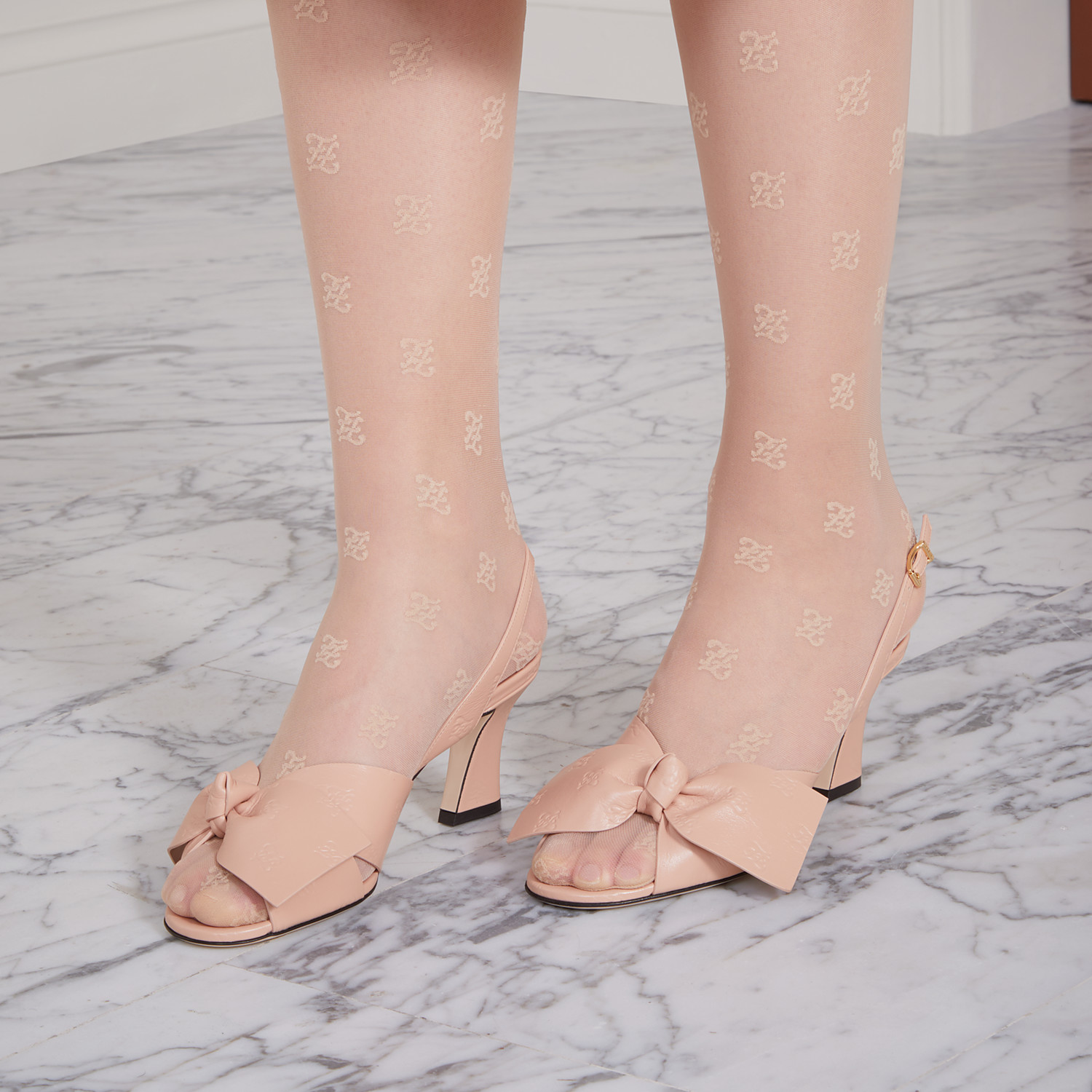 FENDI SANDALS - Pink leather sandals - view 5 detail