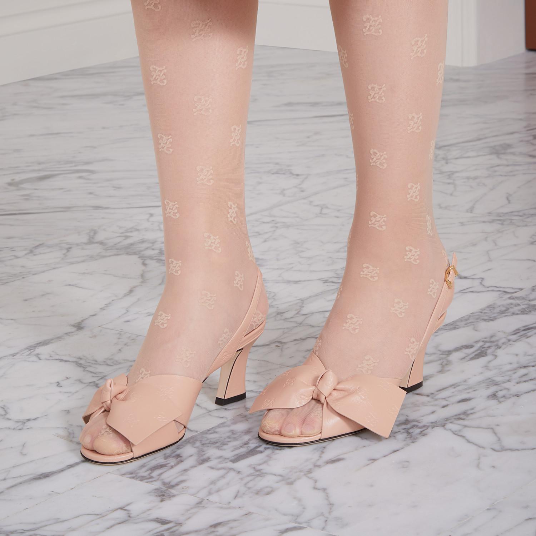 FENDI SANDALS - Pink leather sandals - view 5 detail