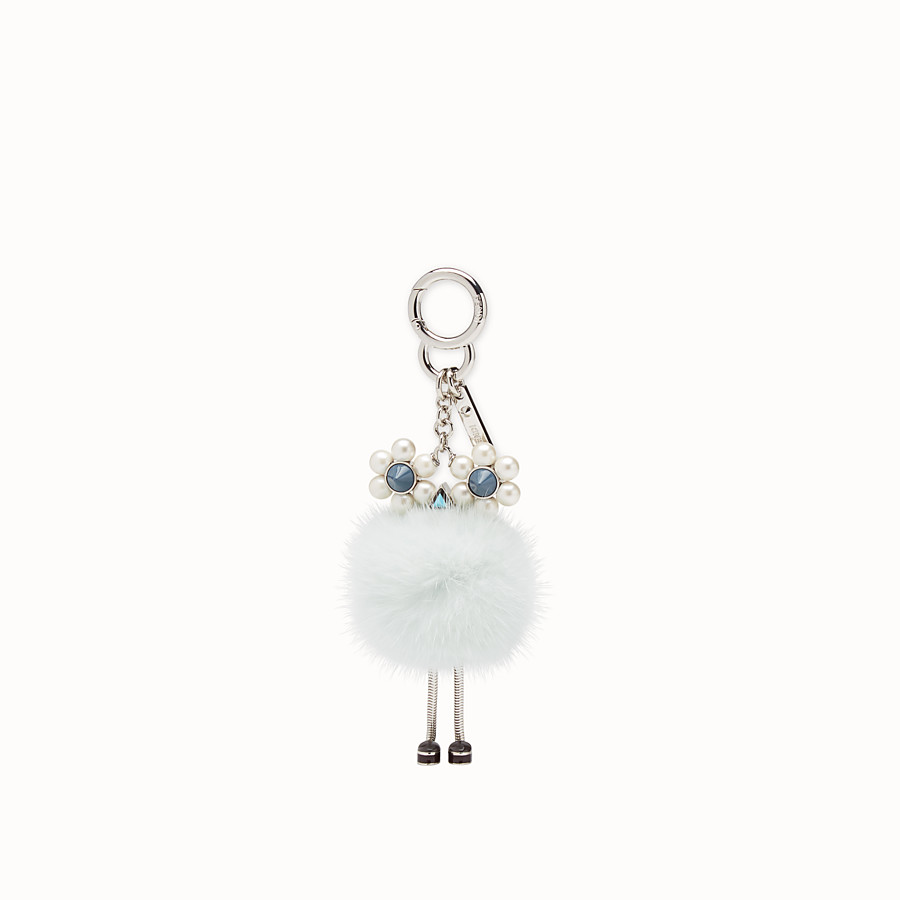FENDI CHICK CHARM - Pale blue fur charm - view 2 detail