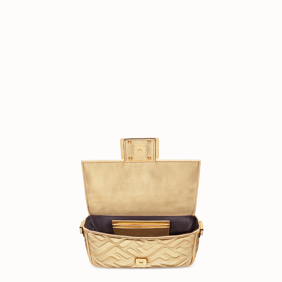 FENDI BAGUETTE MINI - Golden leather bag - view 5 detail