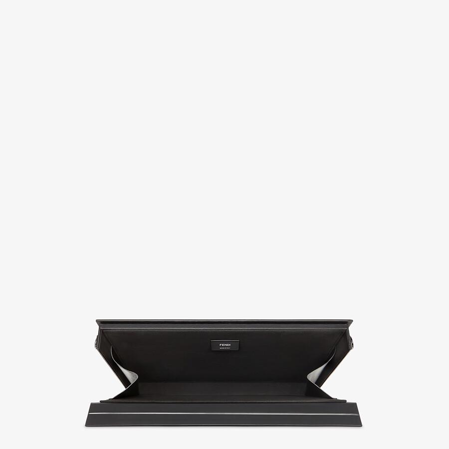 FENDI MESSENGER BOX - Black leather bag - view 4 detail