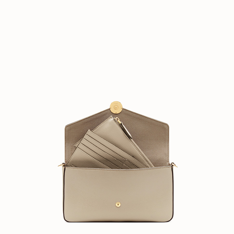 FENDI WALLET ON CHAIN WITH POUCHES - Beige leather minibag - view 7 detail