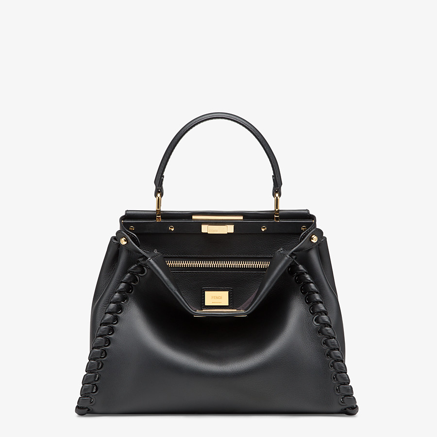 FENDI PEEKABOO ICONIC MEDIUM - Schwarze Ledertasche - view 1 detail
