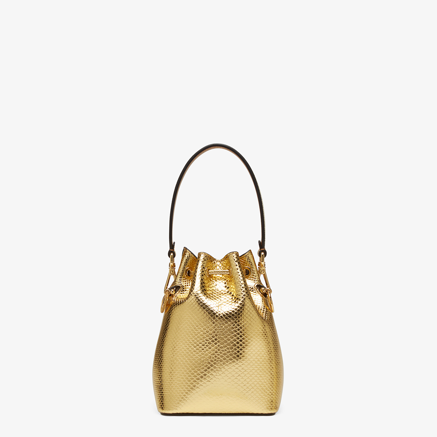 FENDI MON TRESOR - Gold colored karung mini-bag - view 3 detail