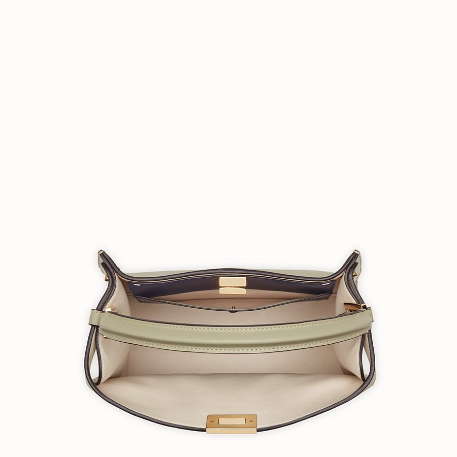FENDI PEEKABOO X-LITE REGULAR - Sac en cuir beige - view 6 detail