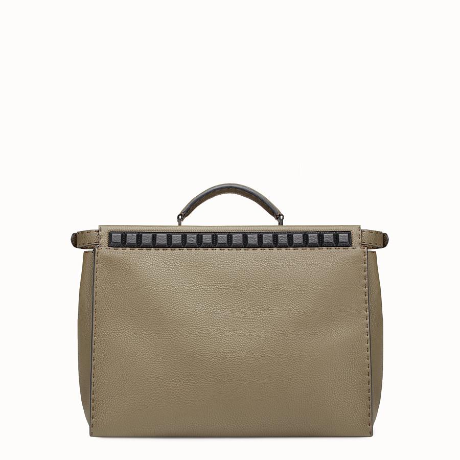 FENDI PEEKABOO - Green leather Selleria handbag - view 3 detail