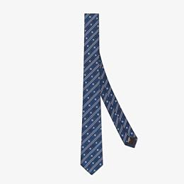 FENDI KRAWATTE - Krawatte aus Seide in Blau - view 1 thumbnail