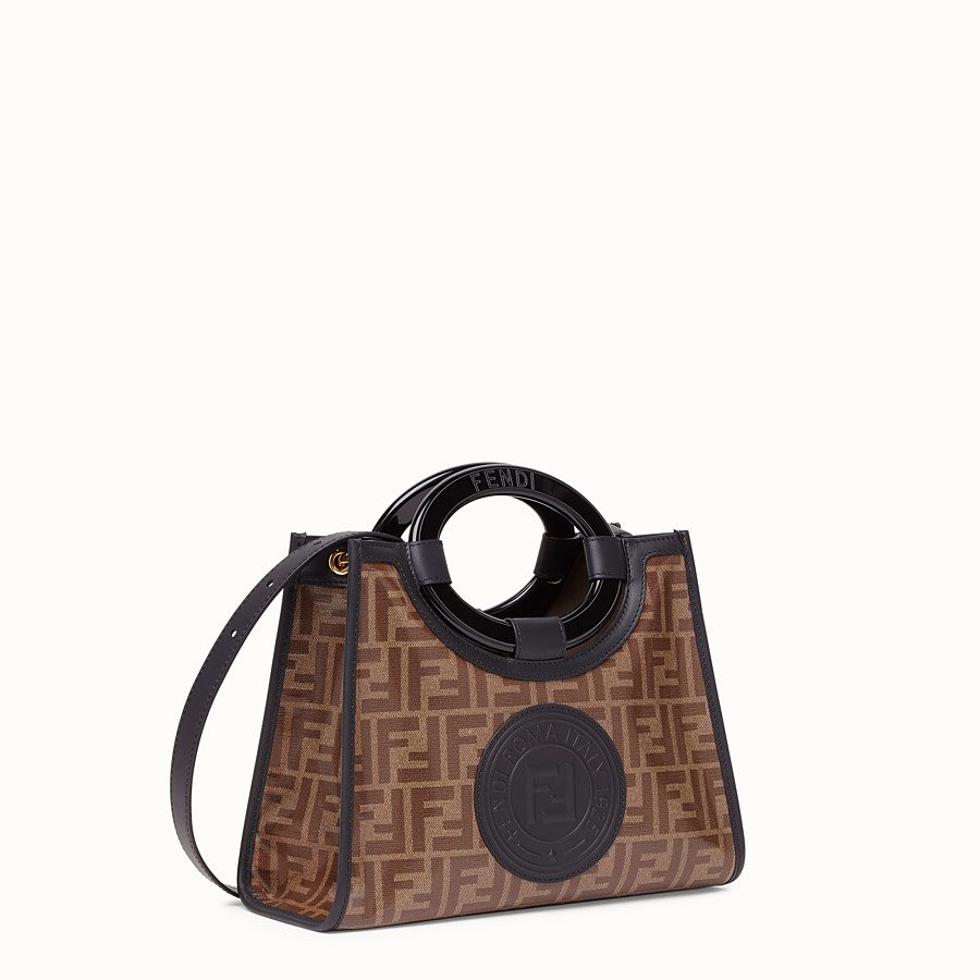 FENDI RUNAWAY SHOPPER - Shopper in brown fabric - view 2 detail