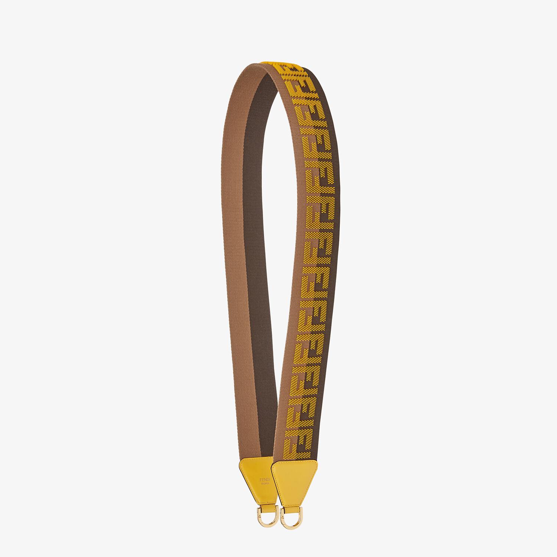 FENDI STRAP YOU - Brown ribbon shoulder strap - view 1 detail