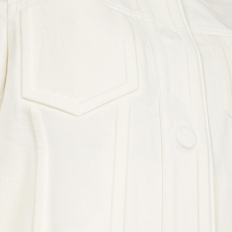 FENDI JACKET - White denim jacket - view 3 detail