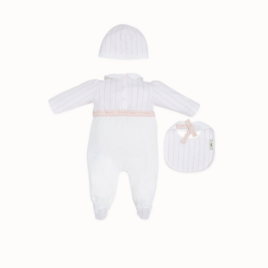 FENDI BABY GIRL'S KIT - Kit in pink and white jersey - view 2 detail