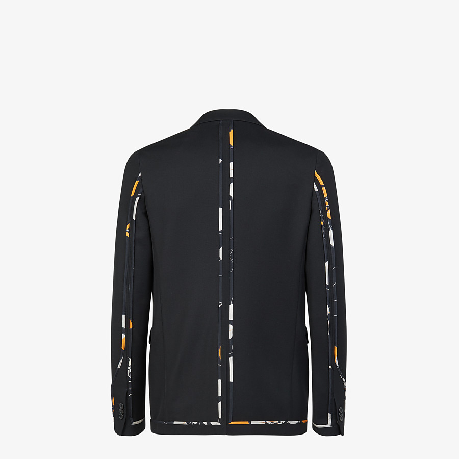 FENDI JACKET - Black twill blazer - view 2 detail