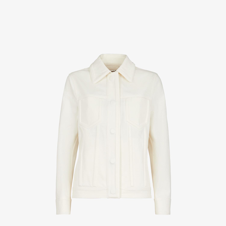 FENDI JACKET - White denim jacket - view 1 detail