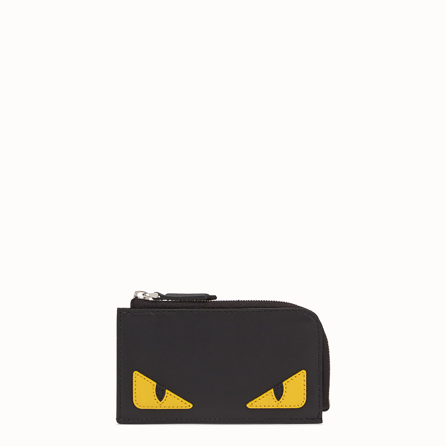 FENDI COIN PURSE - Black leather pouch - view 1 detail