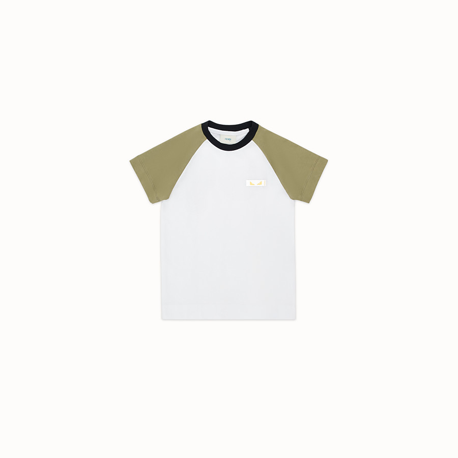 FENDI T-SHIRT - Multicolour jersey T-shirt - view 1 detail