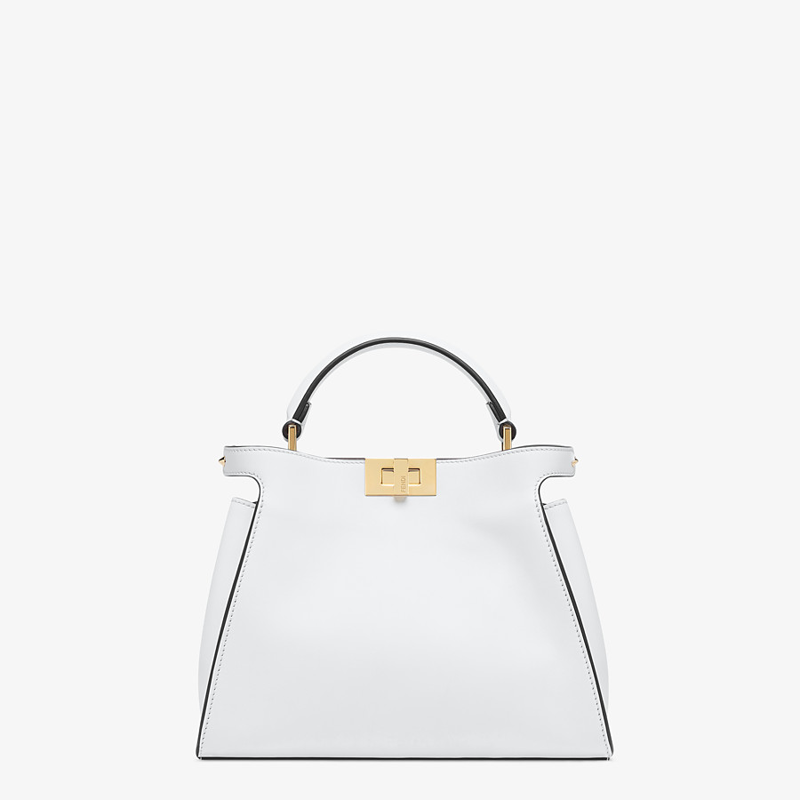 FENDI PEEKABOO ICONIC ESSENTIALLY - White leather bag - view 1 detail