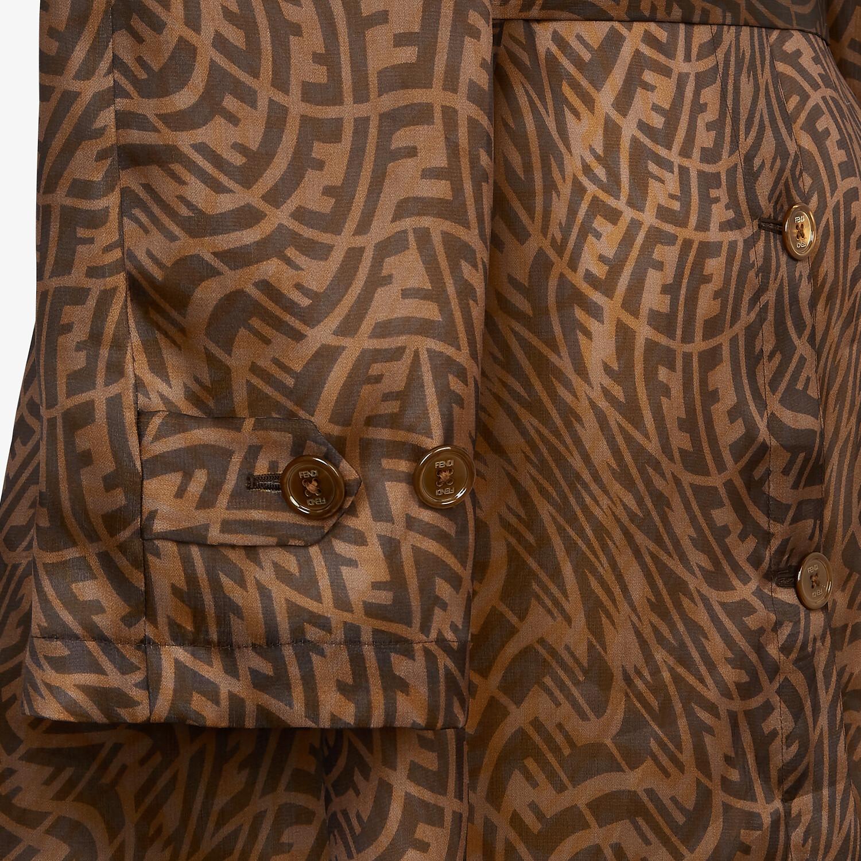 FENDI 風衣外套 - 棕色硬紗風衣外套 - view 3 detail