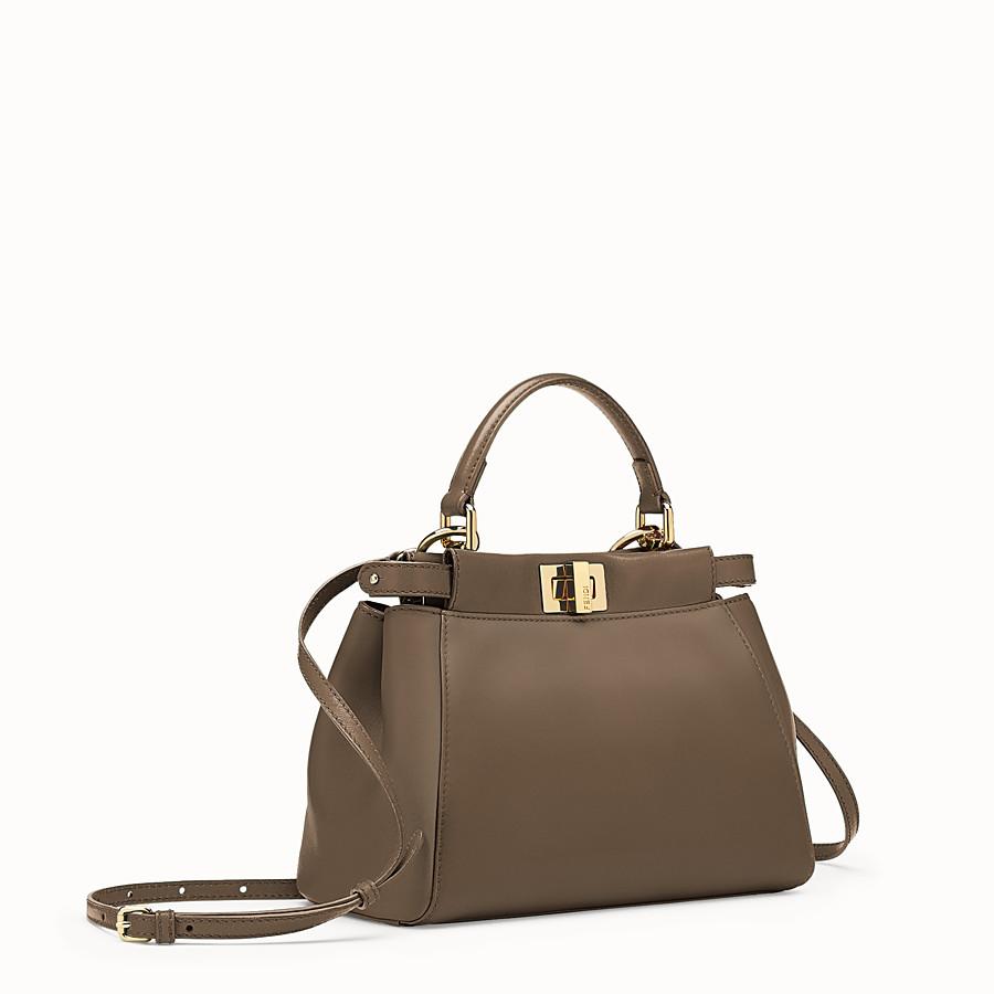 FENDI PEEKABOO MINI - Charcoal nappa handbag - view 2 detail