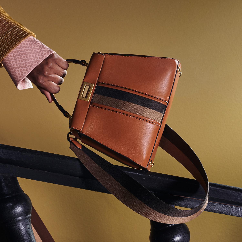 FENDI PEEKABOO ICONIC MINI - Brown leather bag - view 2 detail