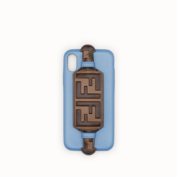 FENDI iPHONE X CASE - Pale blue cover - view 1 small thumbnail