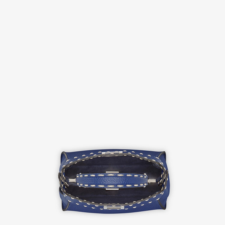 FENDI PEEKABOO ICONIC MINI - Blue full grain leather bag - view 4 detail