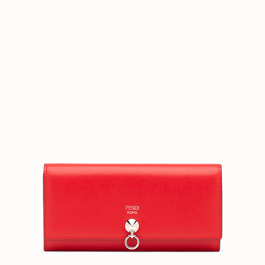 FENDI CONTINENTAL - Flame-red leather continental wallet - view 1 detail