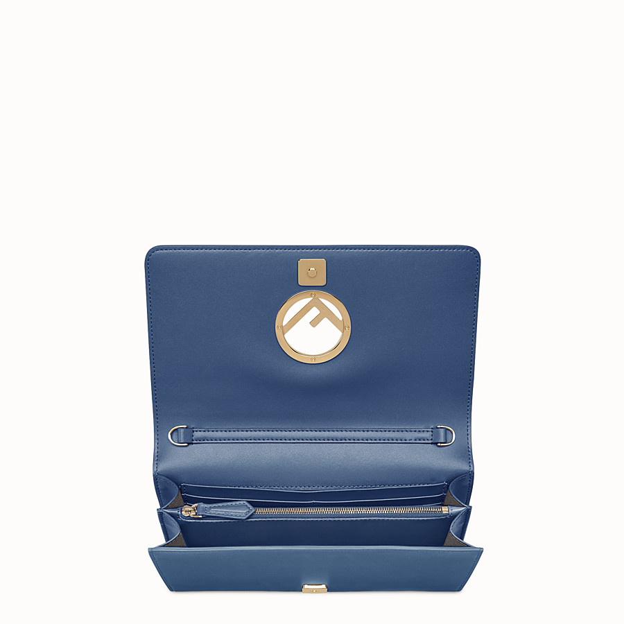 FENDI WALLET ON CHAIN - Dark blue leather mini-bag - view 4 detail