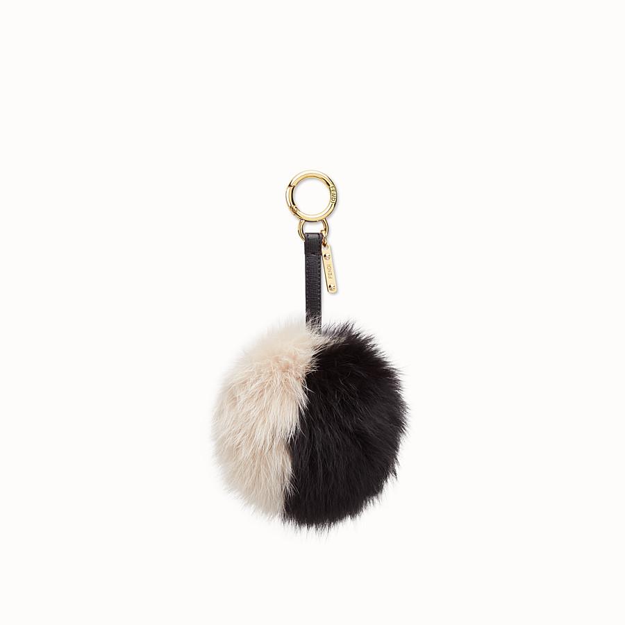 FENDI POMPON手袋吊飾 - 黑色和白色皮毛 - view 1 detail