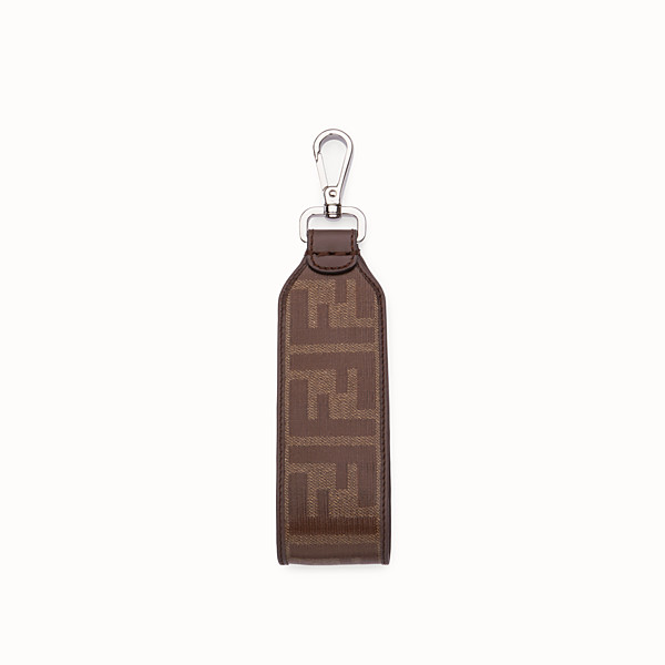 FENDI KEY RING - Brown fabric lanyard - view 1 small thumbnail