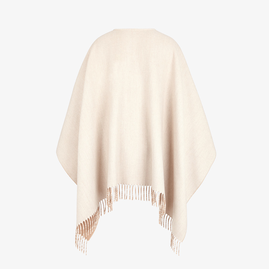 FENDI PONCHO - Beige wool and cashmere poncho - view 2 detail