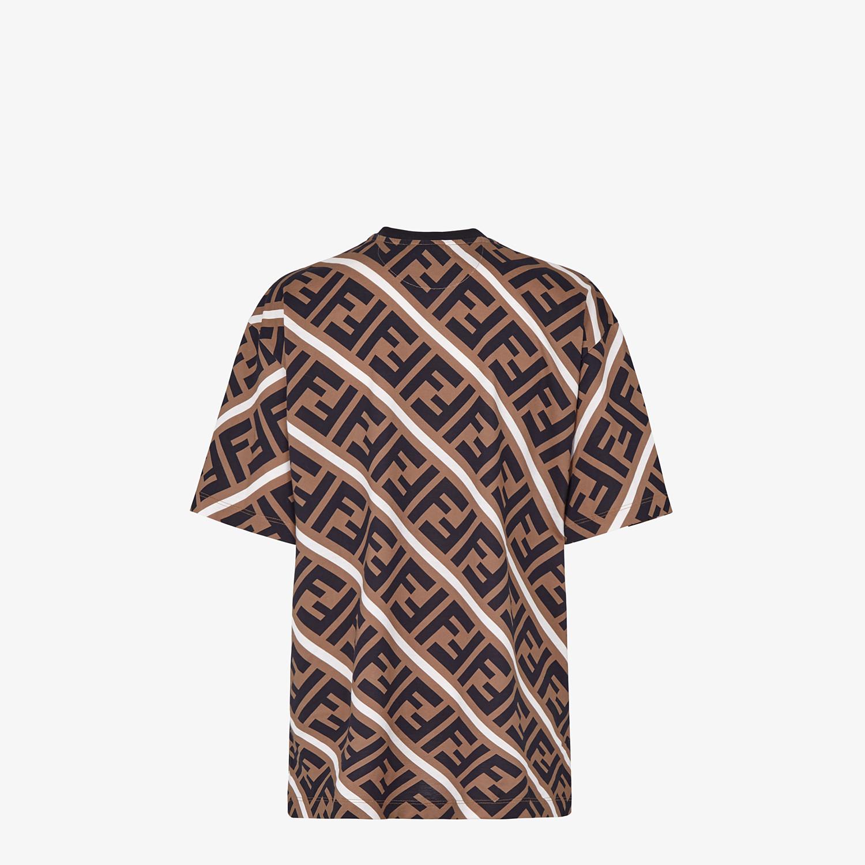 FENDI T-SHIRT - Multicolor jersey T-shirt - view 2 detail