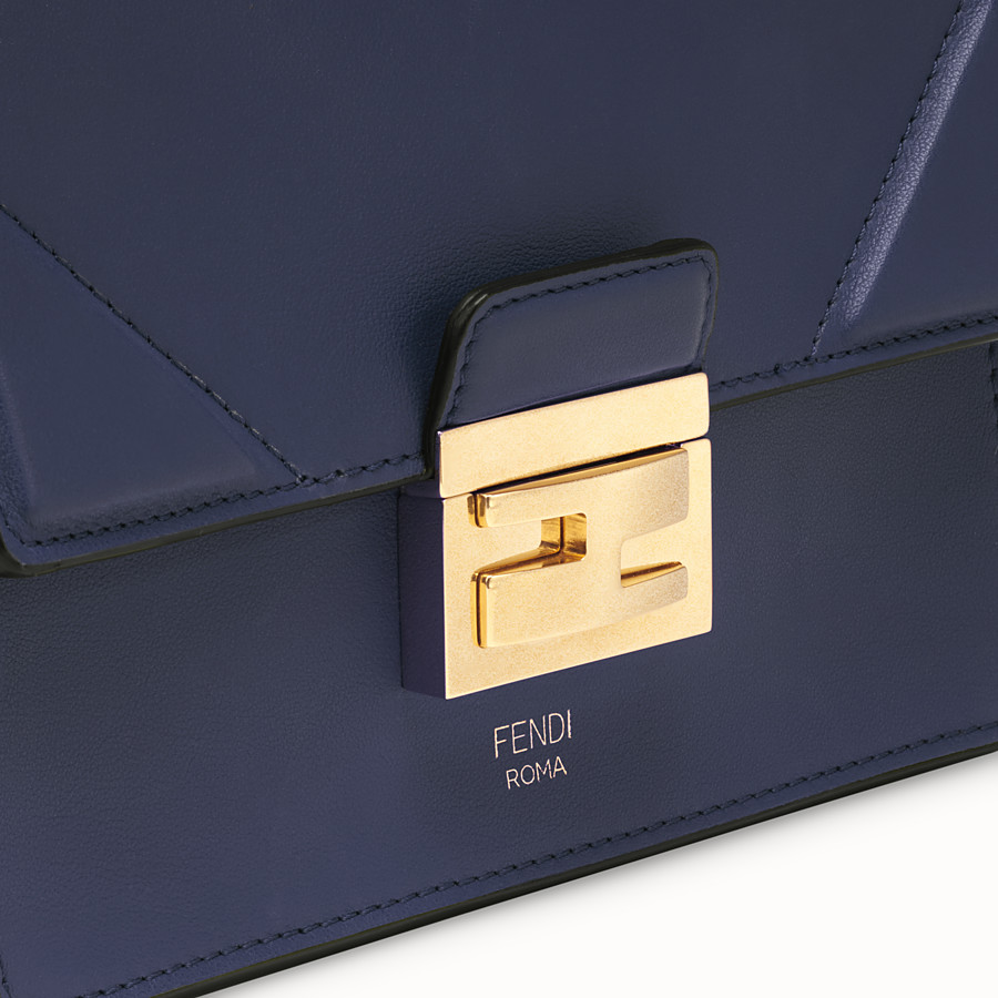 FENDI KAN U SMALL - Blue leather mini-bag - view 5 detail