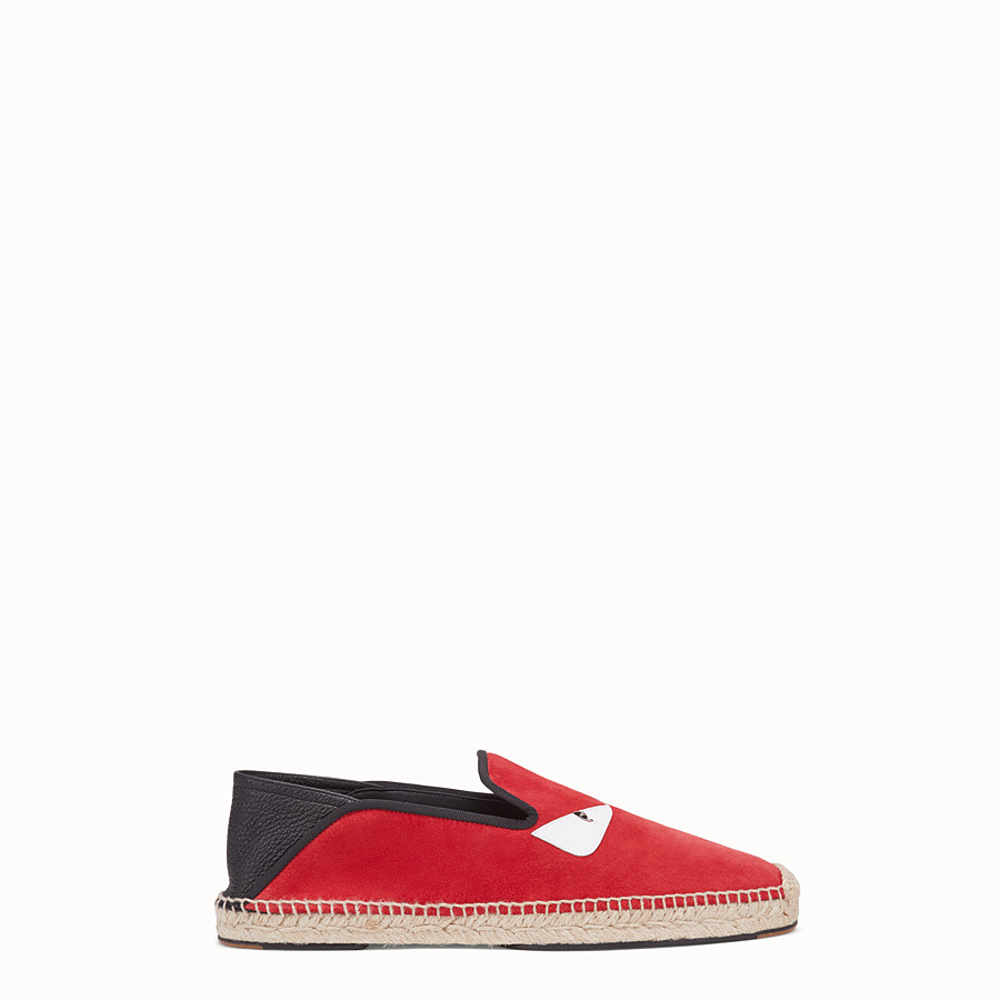 FENDI ESPADRILLES - Red split leather espadrilles - view 1 detail