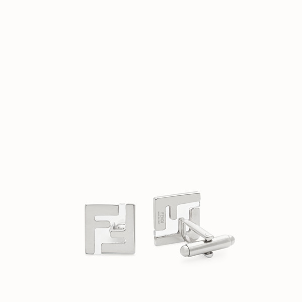 FENDI CUFFLINKS - Silver-coloured cufflinks - view 1 small thumbnail