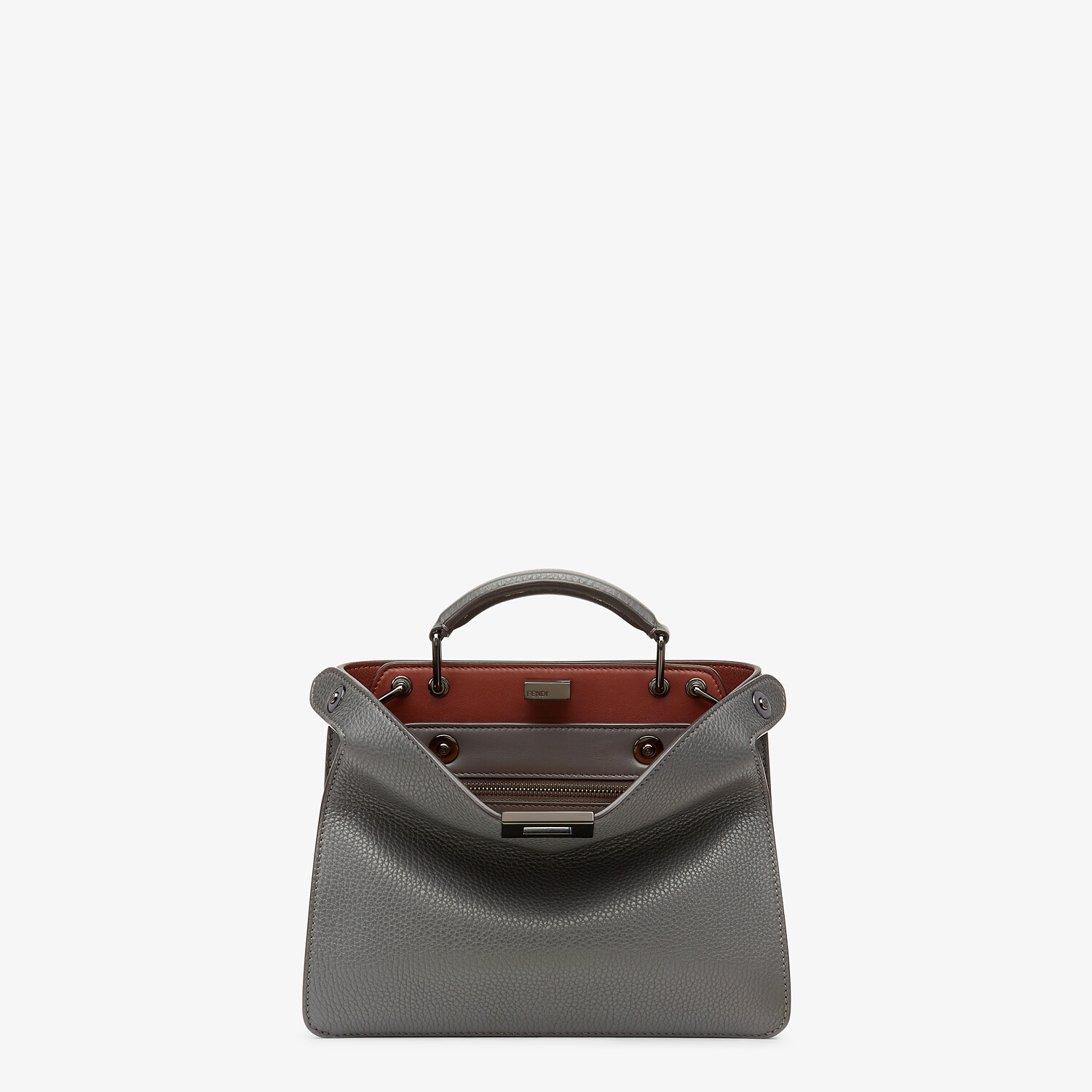 FENDI PEEKABOO ISEEU MINI - Gray leather bag - view 1 detail