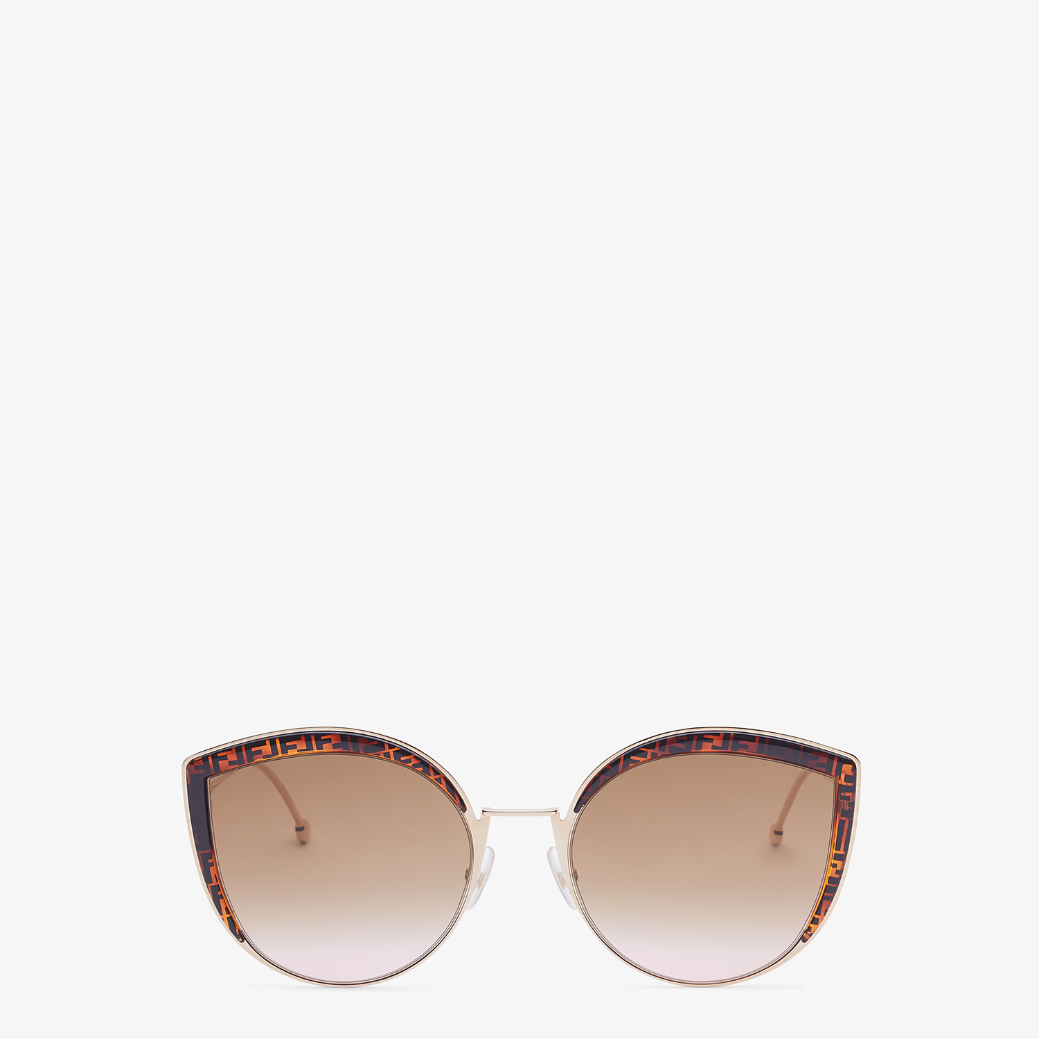 FENDI F IS FENDI - Rose-gold-colored sunglasses - view 1 detail
