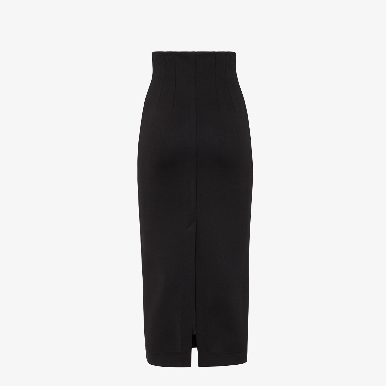 FENDI SKIRT - Black piqué skirt - view 2 detail