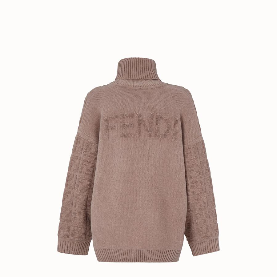 FENDI セーター - ベージュモヘア セーター - view 2 detail