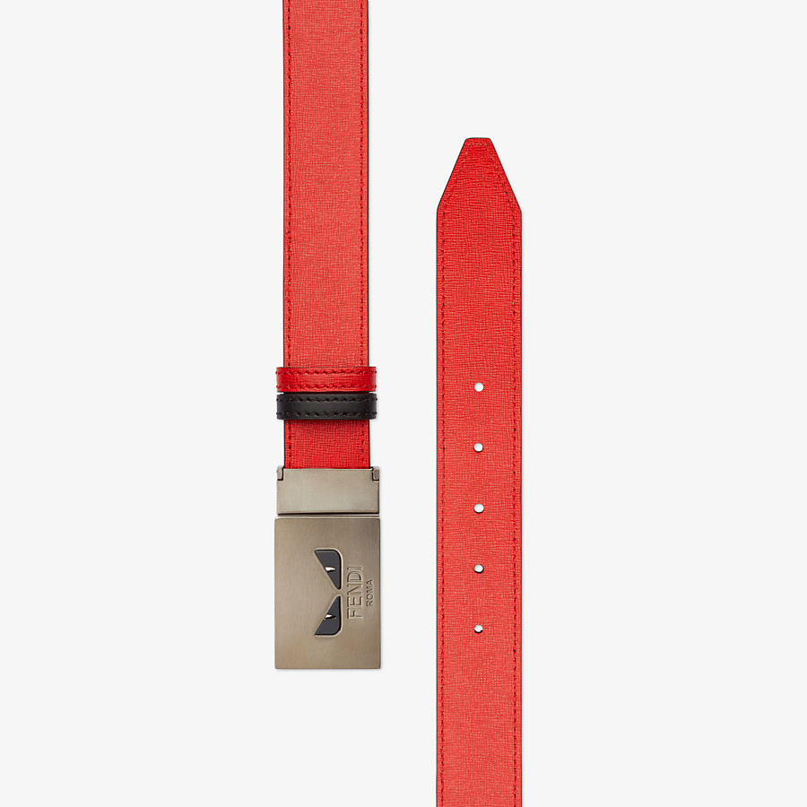 FENDI BELT - Black and red reversible belt - view 2 detail
